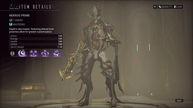 Nekros Prime Warframe
