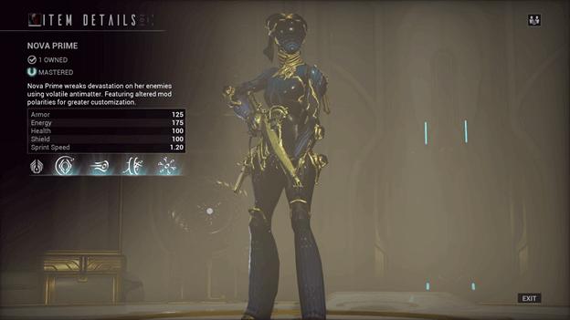 Nova Warframe Prime
